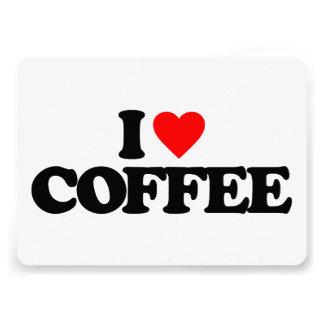 I LOVE COFFEE PERSONALIZED INVITE
