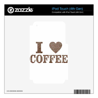 I Love Coffee iPod Touch 4G Decal