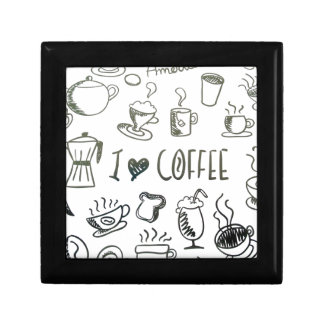 I Love Coffee Jewelry Box