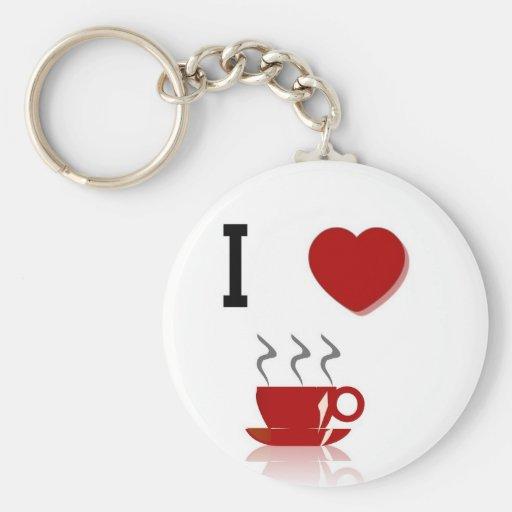 I Love Coffee Keychain