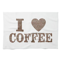 """I love Coffee"" kitchen towel"