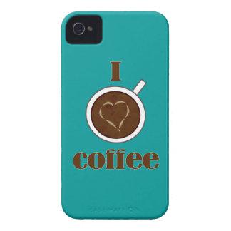 I Love Coffee Latte Heart Blackberry Case