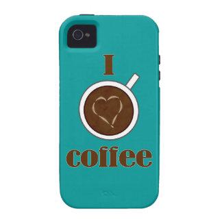 I Love Coffee Latte Heart iPhone 4 Case