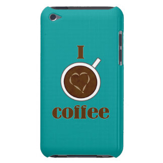 I Love Coffee Latte Heart iPod Touch Case