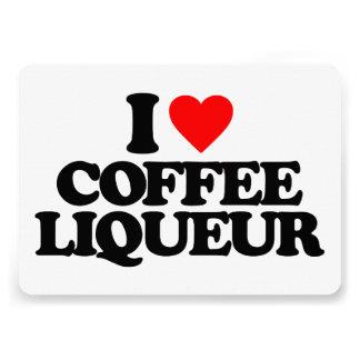 I LOVE COFFEE LIQUEUR CARDS