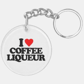 I LOVE COFFEE LIQUEUR KEYCHAIN