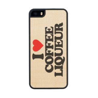 I LOVE COFFEE LIQUEUR CARVED® MAPLE iPhone 5 SLIM CASE