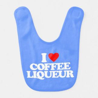 I LOVE COFFEE LIQUEUR BIBS