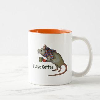 I Love Coffee: Mouse: Original Freehand Art Mugs