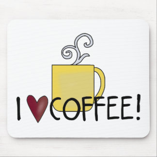 I Love Coffee Mouse Pads