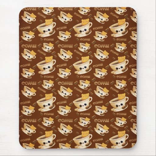 I love Coffee Pattern Mouse Pad
