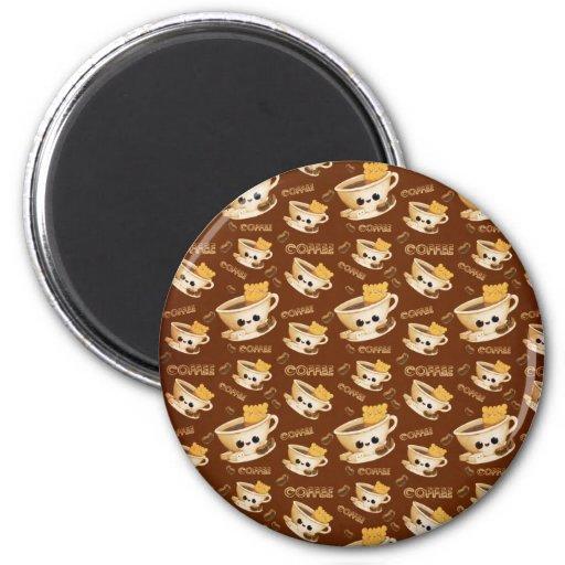 I love Coffee Pattern Refrigerator Magnet