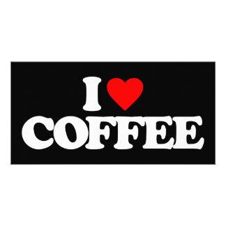 I LOVE COFFEE PHOTO GREETING CARD
