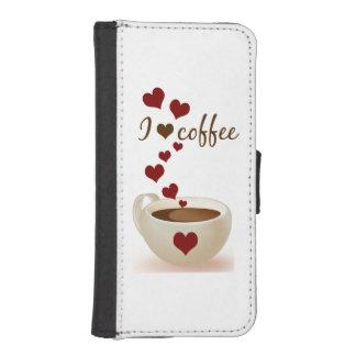 I Love Coffee Phone Wallets