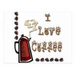 I Love Coffee Post Card