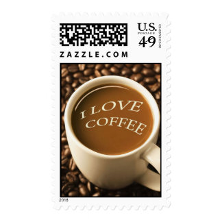 I LOVE COFFEE  Postage Stamps