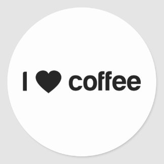 I love coffee round stickers