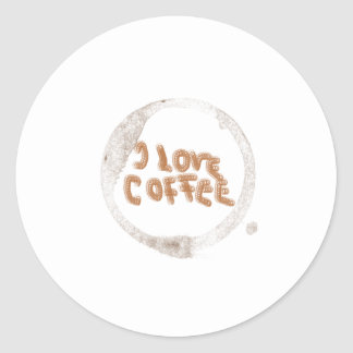 I love coffee! round stickers
