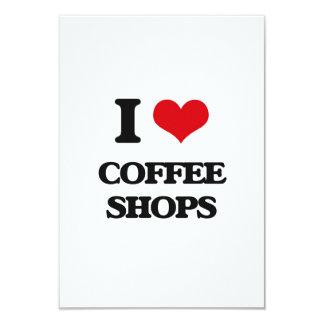 I love Coffee Shops Custom Announcement Card
