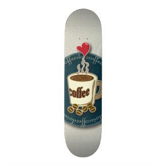 I Love Coffee Skate Board