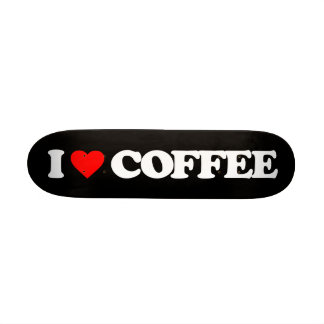 I LOVE COFFEE SKATEBOARD DECK