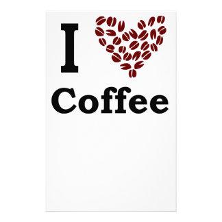 I Love Coffee Stationery