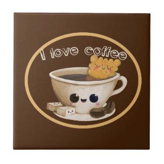 I love Coffee Ceramic Tiles