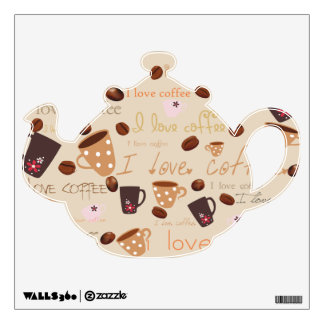 I love coffee wall decal