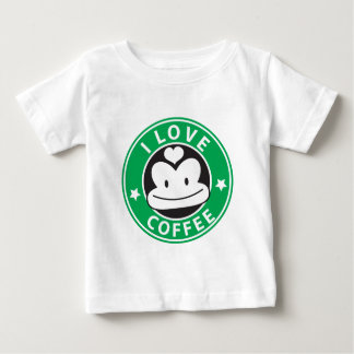 I love coffee with cute green monkey baby T-Shirt