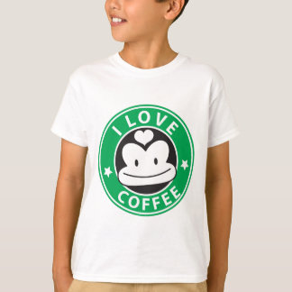 I love coffee with cute green monkey T-Shirt