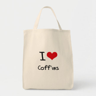 I love Coffins Tote Bag
