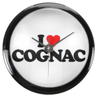 I LOVE COGNAC FISH TANK CLOCK