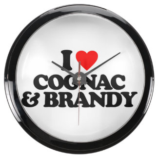 I LOVE COGNAC BRANDY AQUA CLOCKS