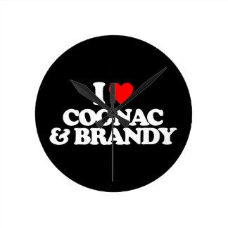 I LOVE COGNAC BRANDY CLOCK