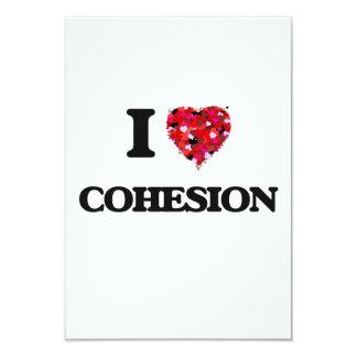 I love Cohesion 3.5x5 Paper Invitation Card