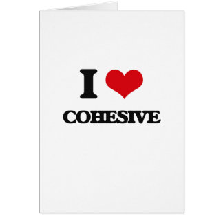 I love Cohesive Greeting Card