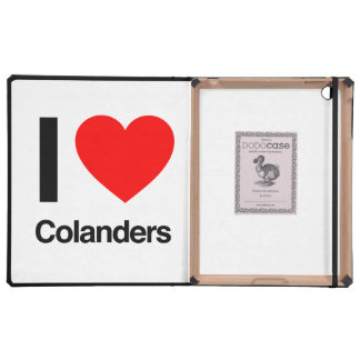 i love colanders iPad folio cases