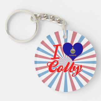 I Love Colby, Kansas Single-Sided Round Acrylic Keychain