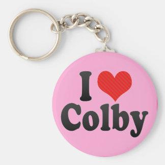 I Love Colby Key Chain