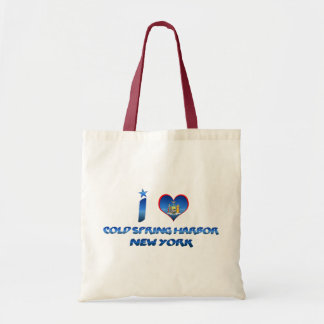 I love Cold Spring Harbor, New York Budget Tote Bag