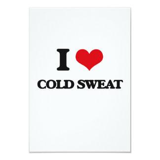 I love Cold Sweat 3.5x5 Paper Invitation Card