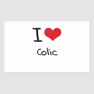I love Colic Rectangular Sticker