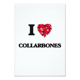 I love Collarbones 3.5x5 Paper Invitation Card