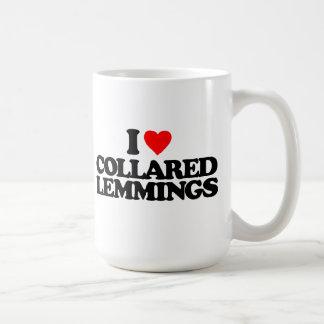 I LOVE COLLARED LEMMINGS CLASSIC WHITE COFFEE MUG