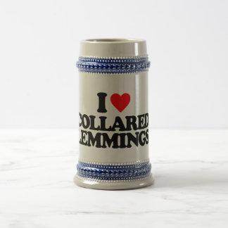 I LOVE COLLARED LEMMINGS 18 OZ BEER STEIN