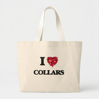 I love Collars Jumbo Tote Bag
