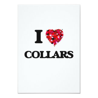 I love Collars 3.5x5 Paper Invitation Card