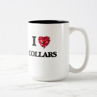 I love Collars Two-Tone Coffee Mug