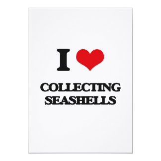 I love Collecting Seashells 5x7 Paper Invitation Card