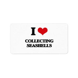 I love Collecting Seashells Address Label